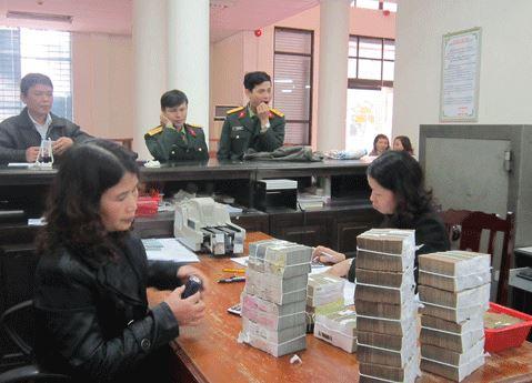 nộp tiền mặt vào tài khoản tiền gửi của kho bạc tại ngân hàng